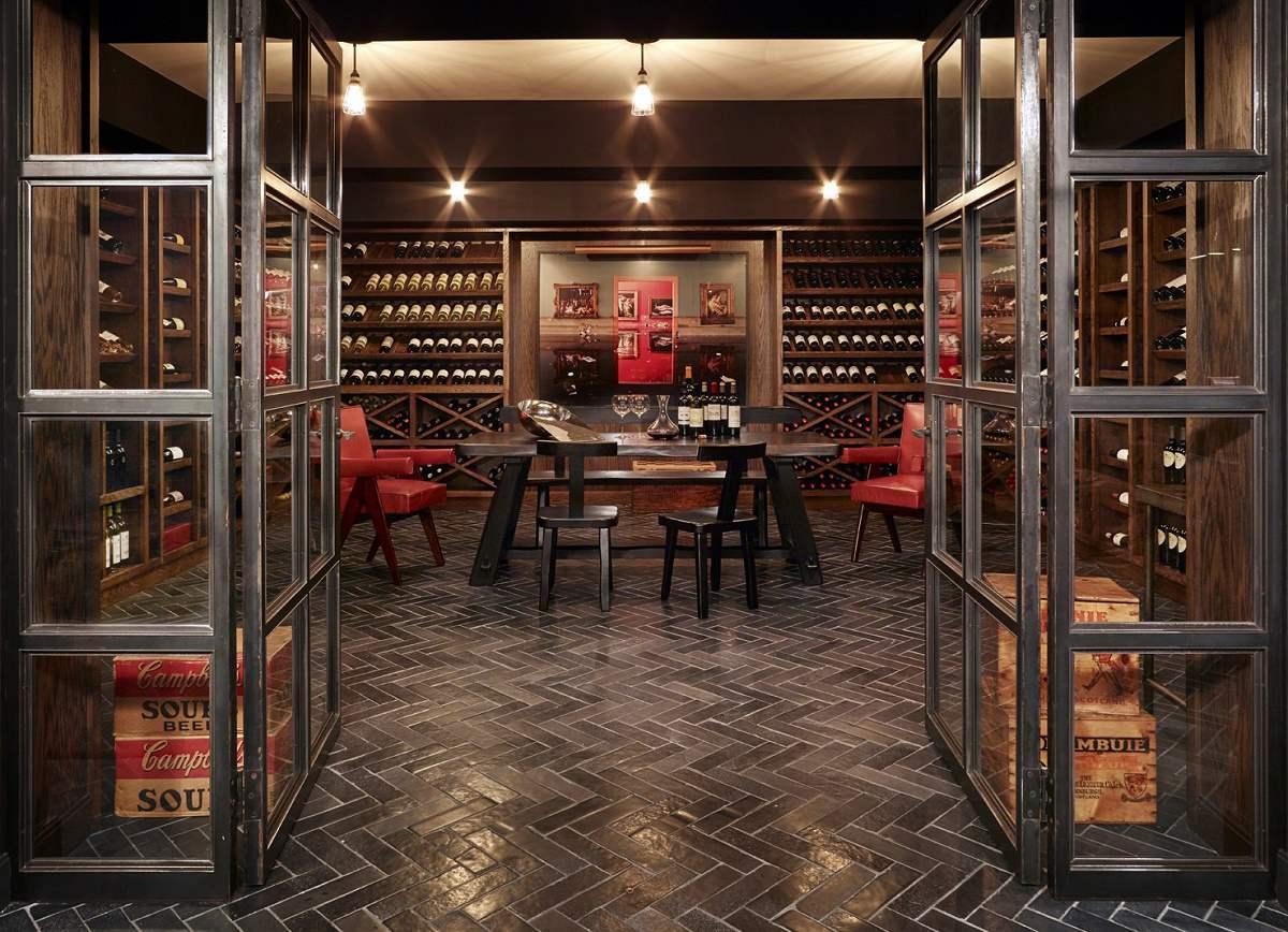 modern luxury mark Cunningham wine cellar