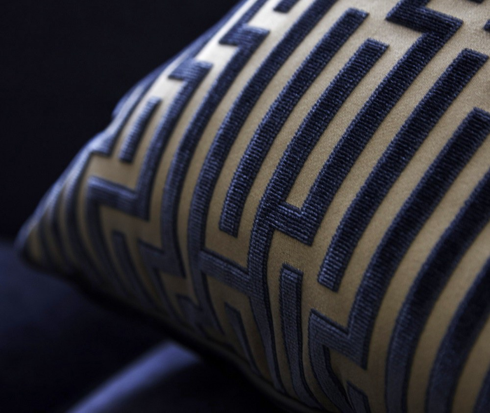 timeless interior design Boscolo pillow detail