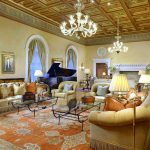 Billionaire's Row waterfront estate Living room A