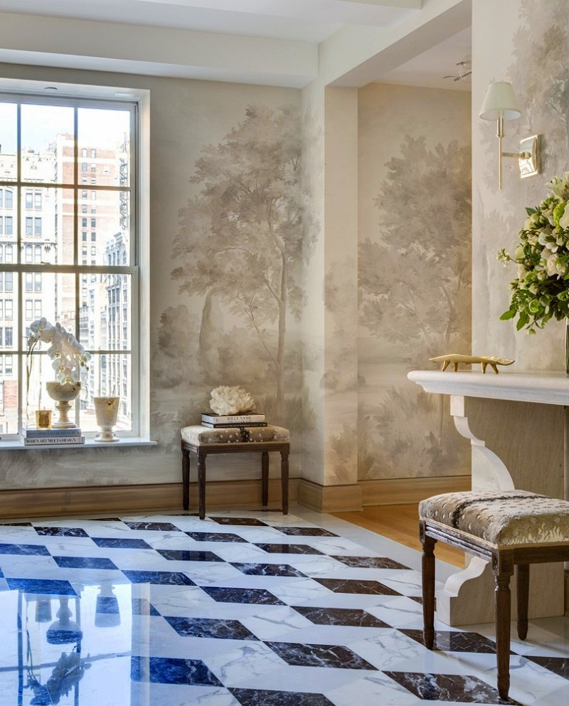 Gramercy Park transitional interior design foyer