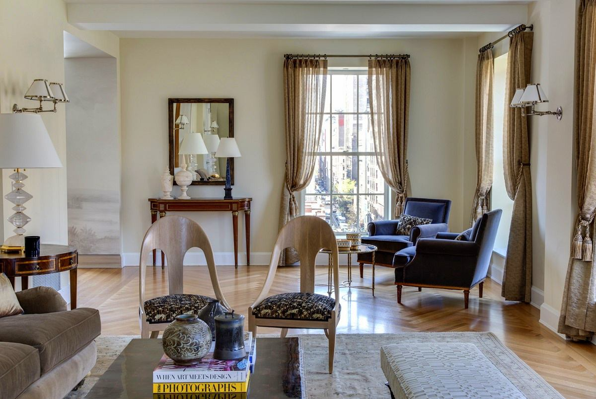 Gramercy Park transitional interior design living and sitting room