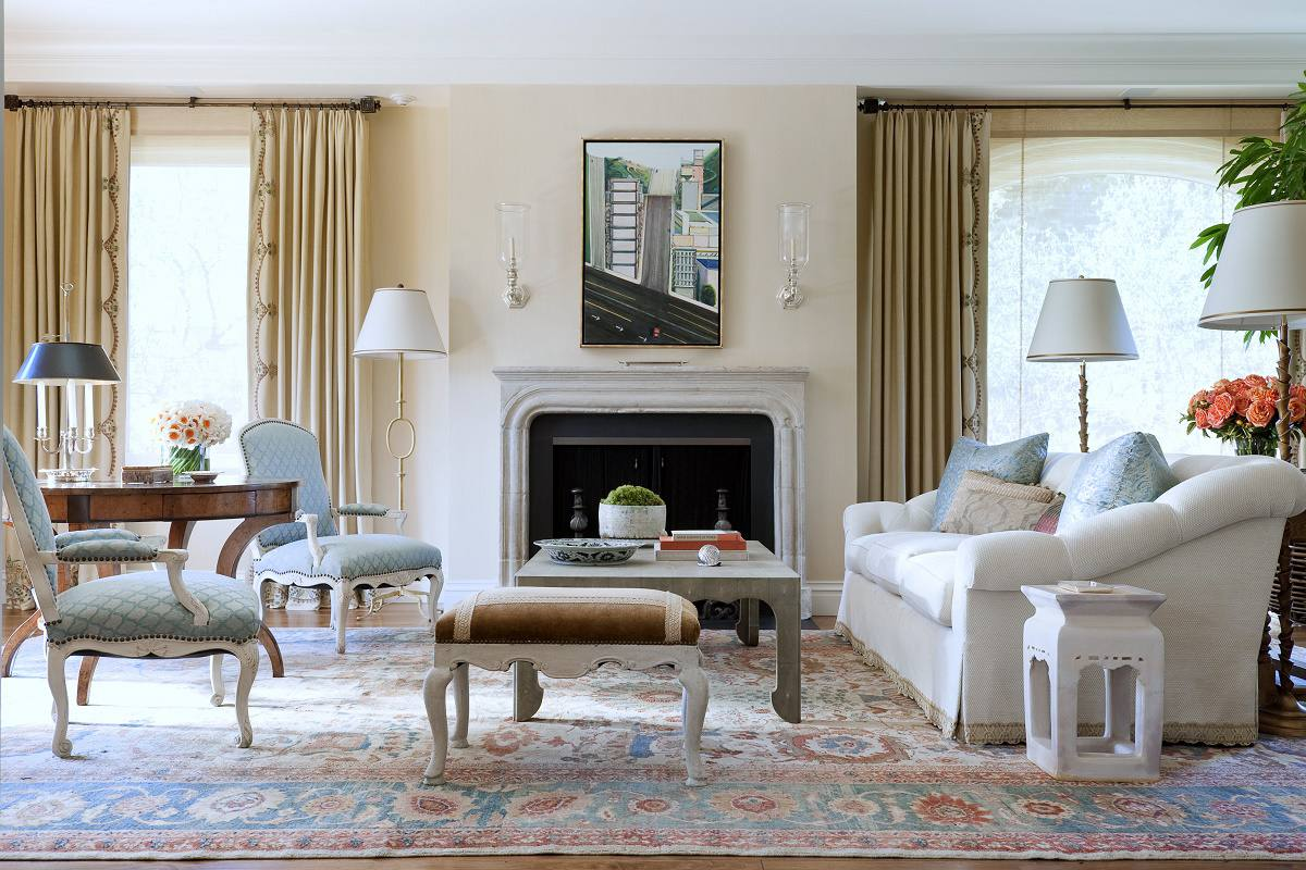 Relaxed traditional style pacific heights dk decor - Traditional contemporary living room ...