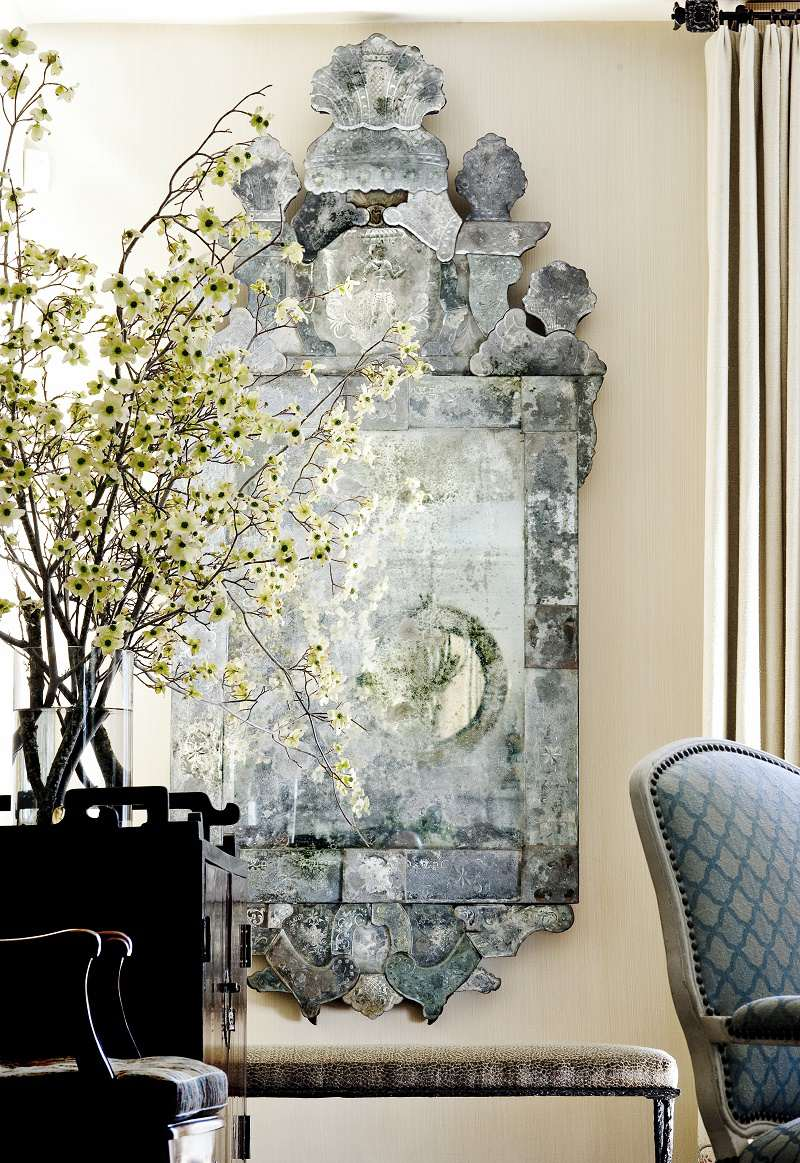 suzanne tucker traditional style venetian mirror