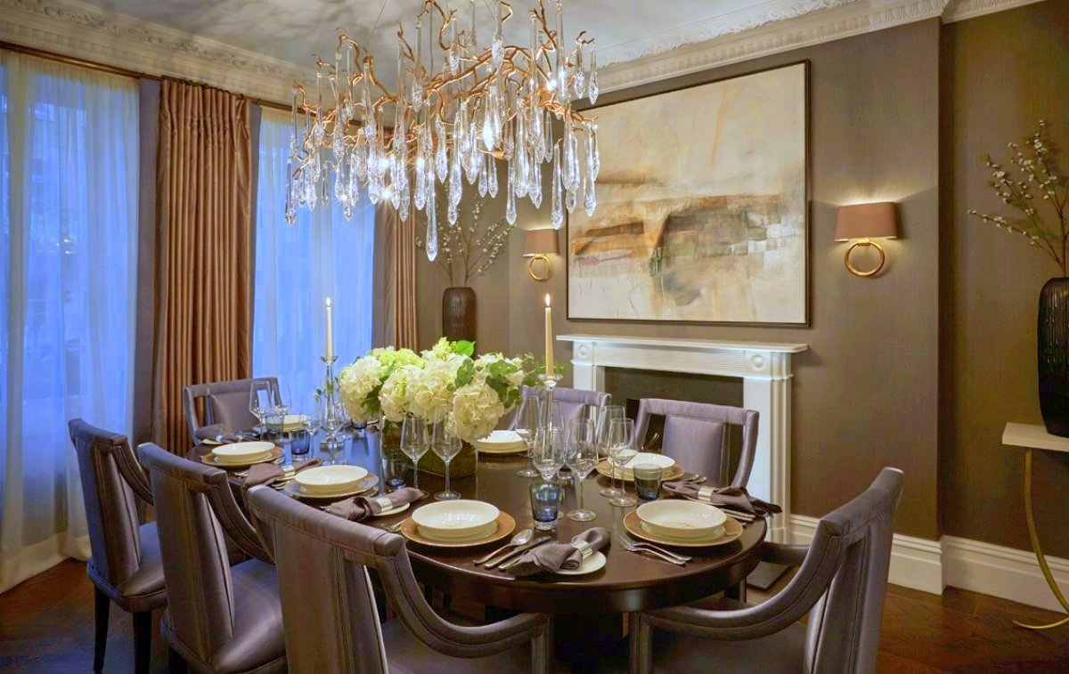 Laura Hammett Classic Contemporary Belgravia Townhouse Dining Room