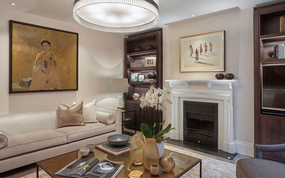 Classic contemporary living rooms - Laura Hammett Classic Contemporary Marylebone Living Room