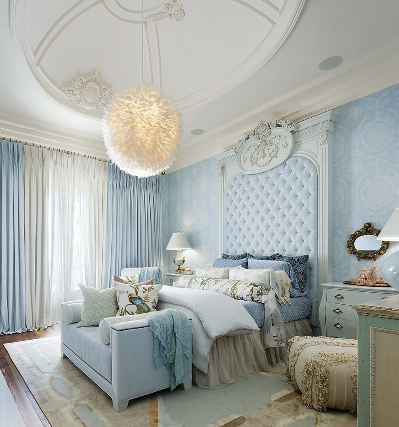 Lori Morris eclectic luxury design castle bedroom