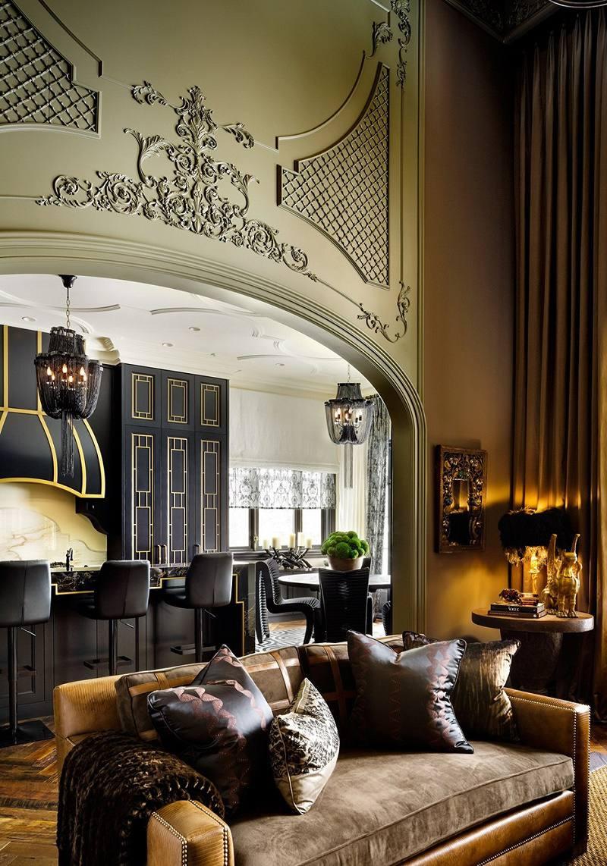 Lori Morris eclectic luxury design castle great room B