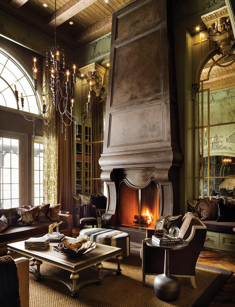 Lori Morris eclectic luxury design castle great room