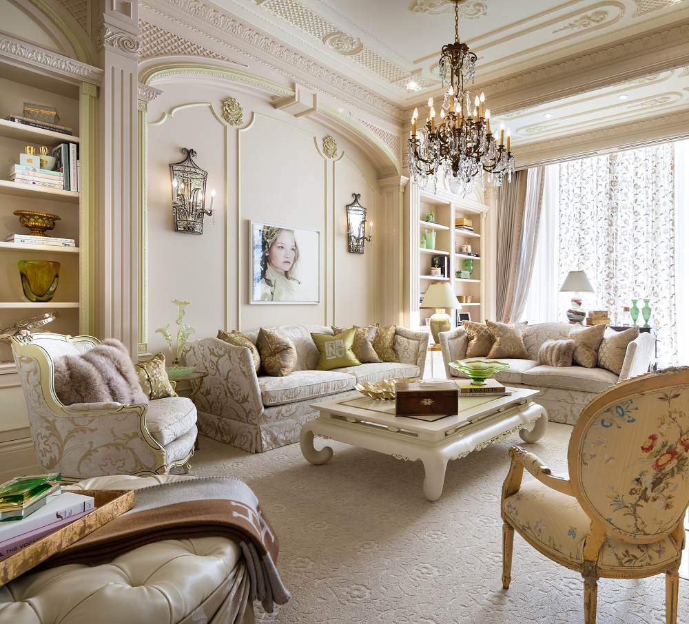 Lori Morris eclectic luxury design Four Seasons living room