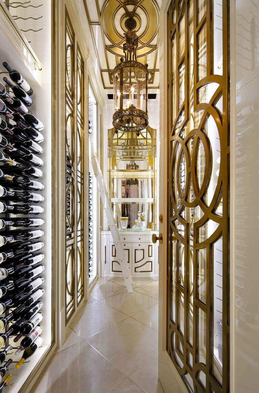 Lori Morris eclectic luxury design Four Seasons wine room