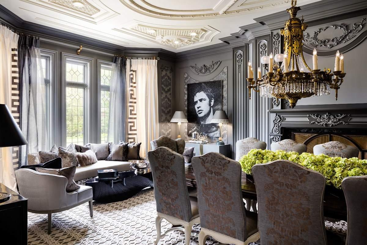Lori-Morris eclectic luxury design manor dining room