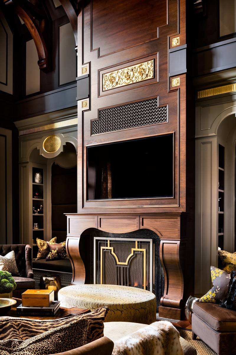 Lori Morris eclectic luxury design manor great room