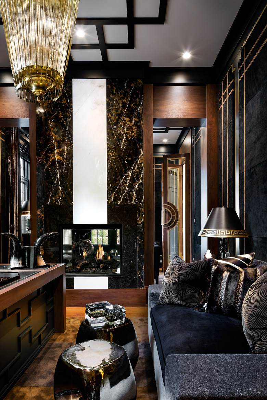 Lori Morris eclectic luxury design manor library B