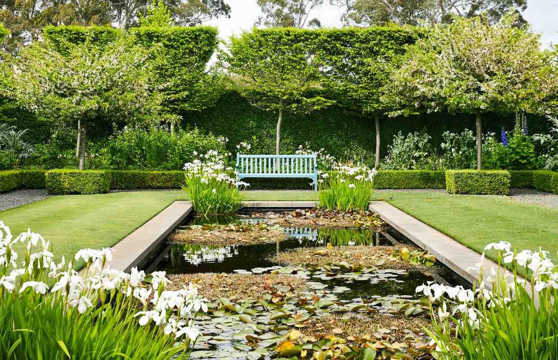 Large rectangular garden ponds garden ftempo for Rectangular garden design