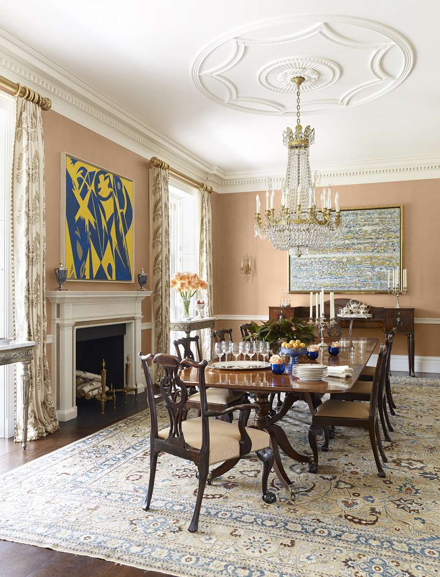 Contemporary Traditional Design Dining Room