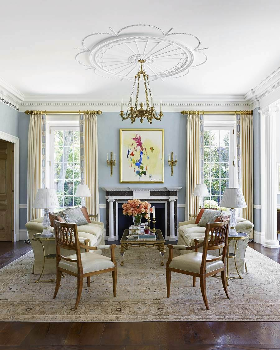 33 Traditional Living Room Design: Contemporary Traditional Design: Southern Mansion