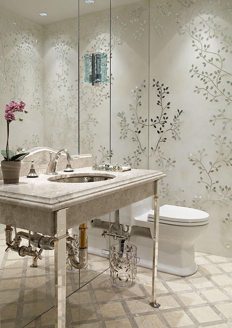 Bradfield Tobin Art Focused Design Powder Room